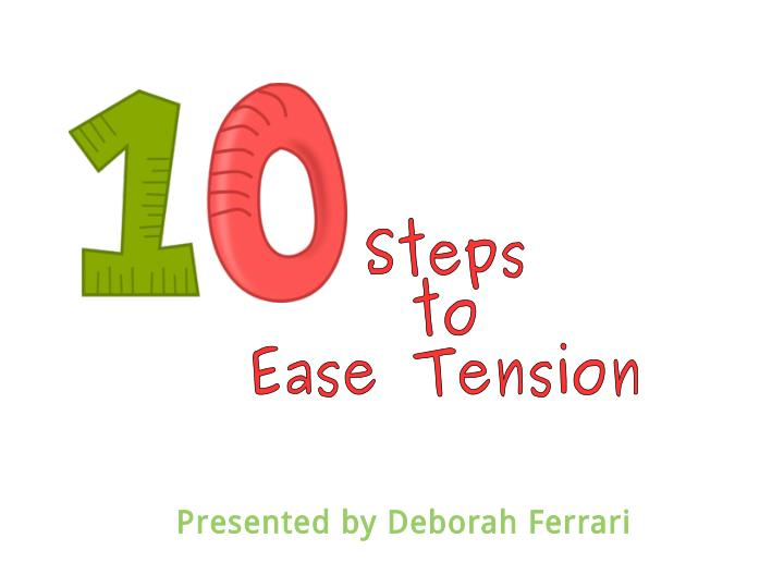 Deborah Ferrari Tell How To Ease Tension