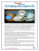 Why led lighting is better compared to CFLs