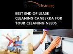 Best End of Lease Cleaning Canberra for Your Cleaning Needs