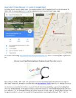 How an Address Looks Like in Google Map?