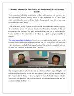 Fue Hair Transplant In Lahore- The Best Place For Guaranteed Results