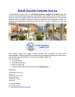 Retail Security Systems Service