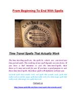 Time Travel Spells That Actually Work