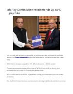 7th Pay Commission recommends 23.55% pay hike