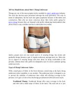 All You Should Know about Men's Thong Underwear
