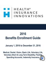 HII Open Enrollment Presentation 2015 - 2016