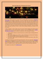 What is the Importance of Christmas Decorations?