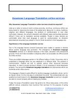 Assamese Language Translation online services