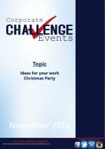 Ideas for your work Christmas party - Corporate Challenge Events