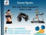 ultimate and best home fitness equipments in India