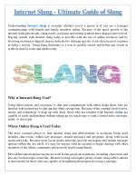 Internet Slang - The Ultimate Guide to Internet Slang