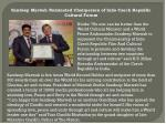 Sandeep Marwah Nominated Chairperson of Indo Czech Republic Cultural Forum