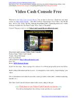 Video Cash Console Video Cash Console Review