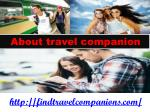 About traveling companions