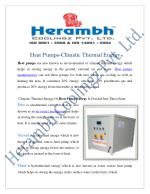 Heat Pumps Manufacturers Suppliers India