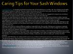 Caring Tips for Your Sash Windows