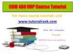 COM 480 learning consultant / tutorialrank.com