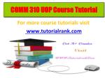 COMM 310 learning consultant / tutorialrank.com