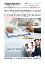 Accounting Outsourcing Services India for Small Businesses