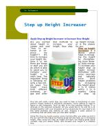 Step Up Height Increaser - Ultimate Height Increasing Formula