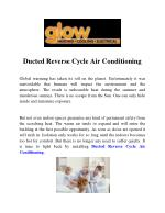 Ducted Reverse Cycle Air Conditioning