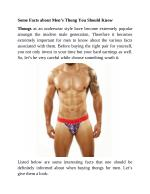 Some Facts about Men's Thong You Should Know
