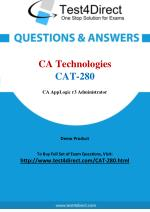 CA Technologies CAT-280 Certified Administrator Real Exam Questions