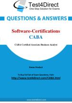 Software Certifications CABA BCABA Real Exam Questions