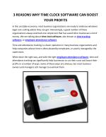 3 Reasons Why Time Clock Software Can Boost Your Profits