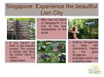 Singapore: Experience the beautiful Lion City
