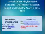 Global Linear Alkylbenzene Sulfonate (LAS) Market 2015 Industry Growth, Trends, Development, Research and Analysis