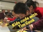 Kids code with Tim Cook