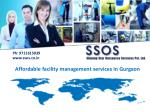 Affordable facility management services Gurgaon