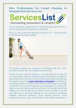 Hire Professionals for Carpet Cleaning in Issaquah from ServicesList