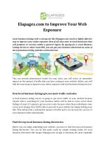 Elapages.com to Improve Your Web Exposure