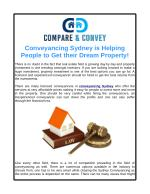Conveyancing Sydney is Helping People to Get their Dream Property!