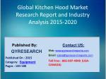 Global Kitchen Hood Market 2015 Industry Growth, Trends, Development, Research and Analysis