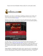 Expect more from bookmakers when you play live casino games online