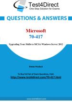 Microsoft 70-417 MCSE Real Exam Questions