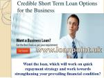 Short Term Business Loan for Small Business