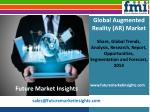 Augmented Reality (AR) Market Expected to Expand at a Steady CAGR through 2020