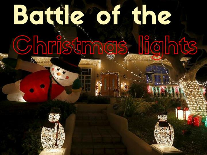 Battle of the Christmas lights