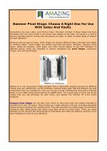 Bommer Pivot Hinge: Choose A Right One For Use With Gates And Vaults