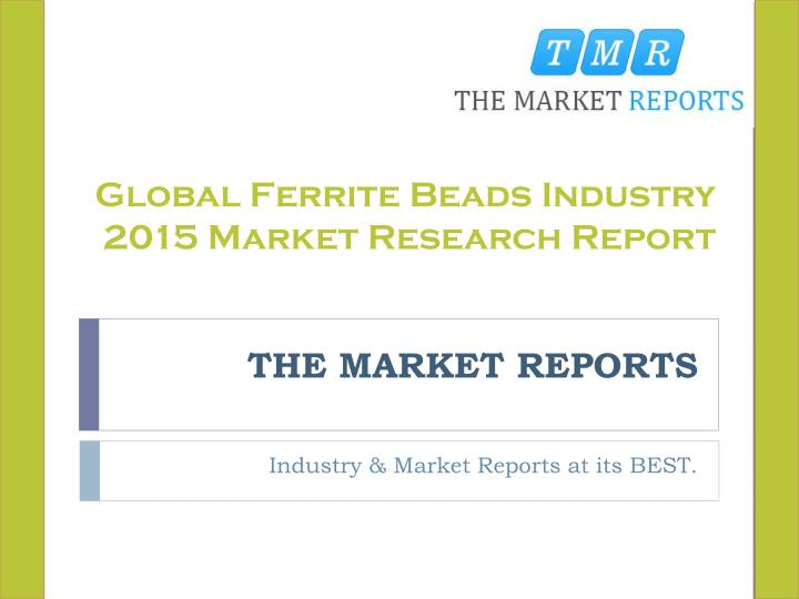 the market reports n.