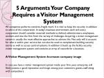 5 Arguments Your Company Requires a Visitor Management System