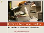 Tips for Office Clearance in London