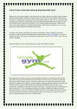 Critical Points to think about Although Negotiating With Gyms!