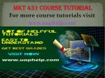 MKT 431 Instant Education uophelp