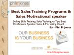 Philmjones - Best Sales Training Programs & Sales Motivational speaker