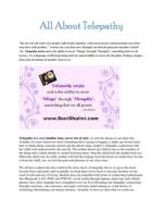 All About Telepathy